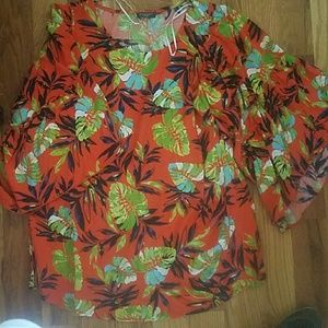 Hannah plus size blouse bell sleeves